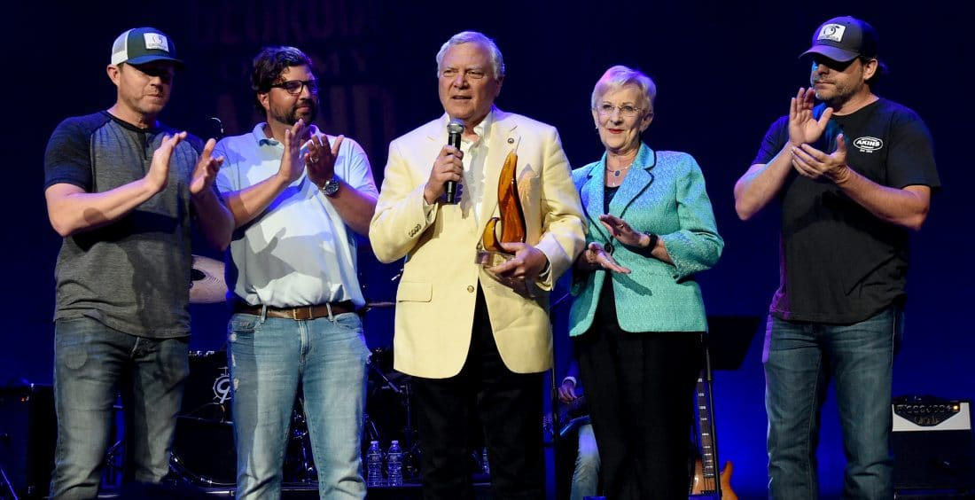 Peach Pickers Presents Gov. Nathan Deal with Flamekeeper Award