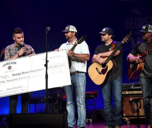Jameson Irish Whiskey Presents Georgia Music Foundation $50,000 Check