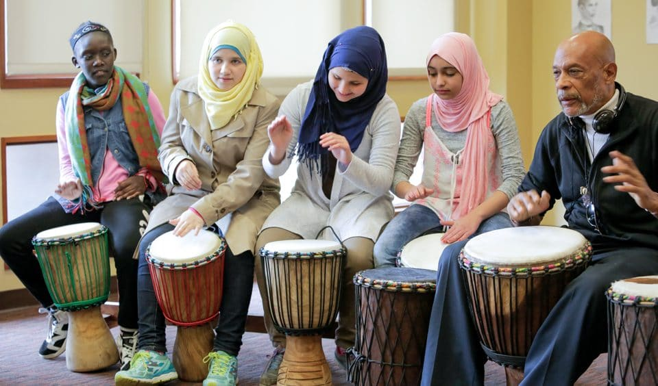 African Drumming Class at the Tubman